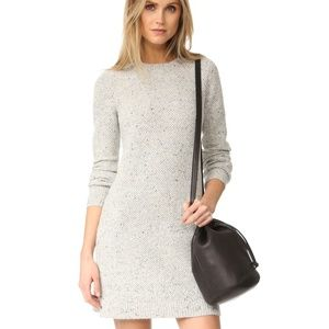 Madewell Donegal Button Back Sweater Dress Grey